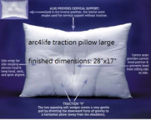 Arc4life Cervical Linear Traction Neck Pillow (Large)