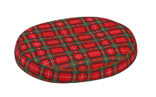 Donut Pillow with Plaid Pillow Cover Small
