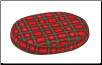 Donut Pillow with Plaid Pillow Cover Large